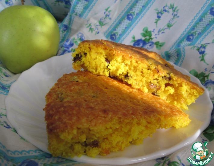 Рецепт: Постный лимонный кекс с изюмом