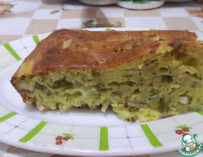 Рецепт: Луковый пирог с беконом