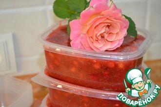 Рецепт: Заморозка сладкого соуса из ягод