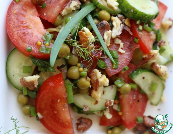 Рецепт: Салат из овощей и зелёного горошка