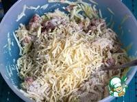 Кабачковые оладьи с фаршем на помидорном салате ингредиенты