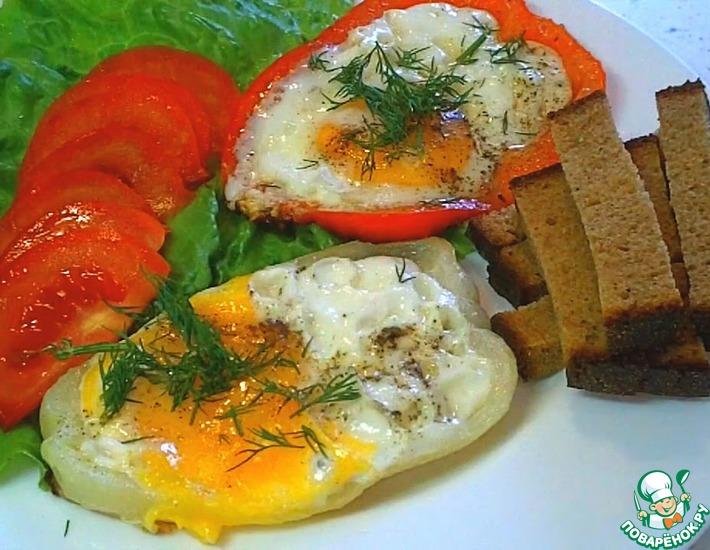 Рецепт: Яичница в болгарском перце