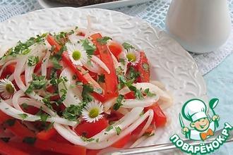 Рецепт: Два закусочных салата с маринованным луком