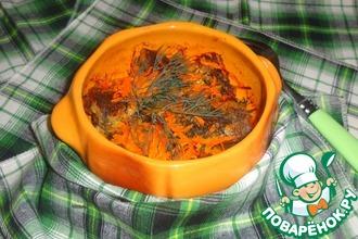 Рецепт: Горячее Карасики в горшочке