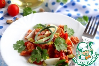 Рецепт: Томатный салат с тунцом