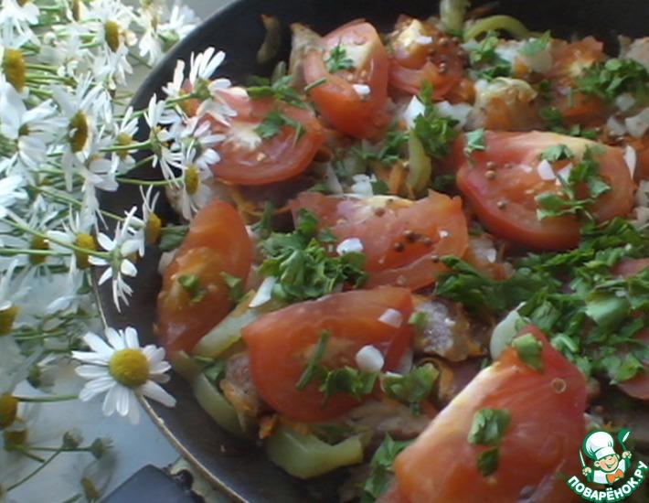 Рецепт: Мясо по-абхазски с овощами