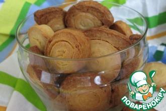 Рецепт: Печенье постное Лимонные улитки