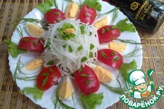 Рецепт: Салат овощной с дайконом