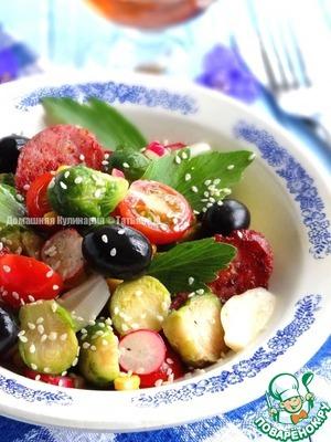 Салат из брюссельскую капусту