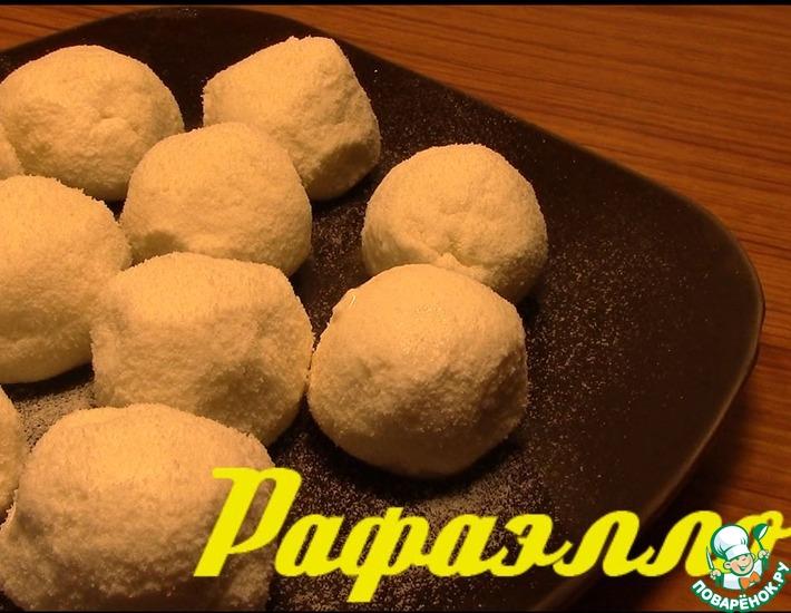 Рецепт: Творожные шарики Рафаэлло по Дюкану