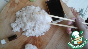Itadakimasu You! Tried to show You that the rice is easily molded and does not break... hope you like it...