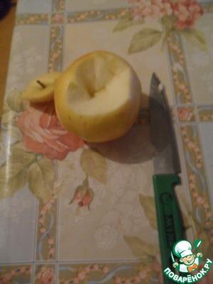 """Вырезаем """"Шапочку"""" у яблока.)"""