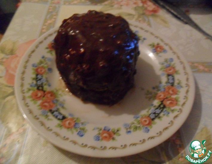 Рецепт: Печеные яблоки с шоколадом