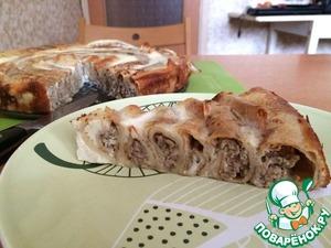 Рецепт Блинный пирог с мясом