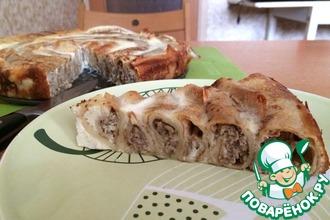 Рецепт: Блинный пирог с мясом