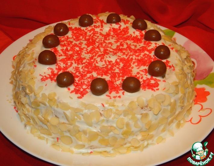 Рецепт: Торт Волшебный
