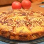 Полосатый яблочный пирог