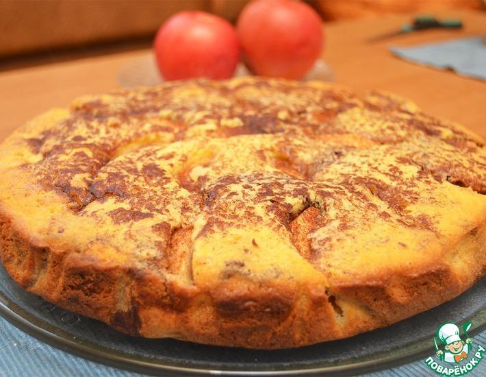 Рецепт: Полосатый яблочный пирог