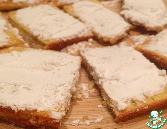 Рецепт: Лимонное печенье на скорую руку