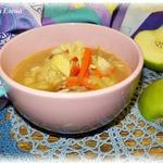 Суп овощной с рисом и яблоком