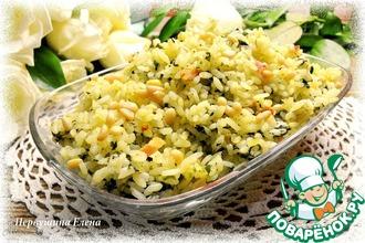 Рецепт: Рассыпчатый рис с беконом и шпинатом