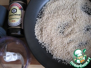 For tehina (tahini or sesame paste): dry pan dry and SLIGHTLY gilding the sesame seeds, stirring constantly.