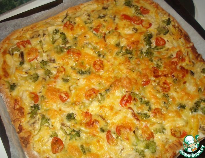 Рецепт: Пицца Весеннее настроение