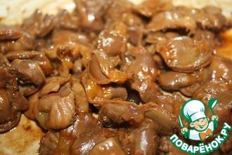 Рецепт: Румяные куриные желудки