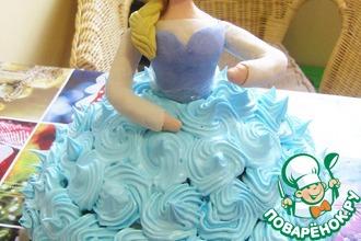 Рецепт: Торт-кукла Холодное сердце