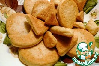 Рецепт: Печенье на огуречном рассоле с сыром