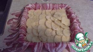 Слои повторить, если картошки и сыра много-повторить несколько раз.