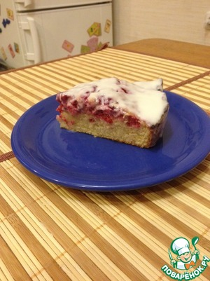 """Cake is high, I have not never """"blown away"""", Try instead of to use cranberries cherries or assorted berries, too, will be delicious! Bon appetit, hope you like it."""