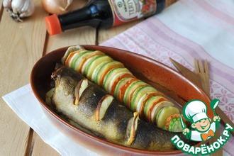 Рецепт: Окунь запеченный с овощами Терияки