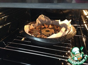 Then put our pizza in a preheated oven at 220*C, and give her 30 minutes to be baked.