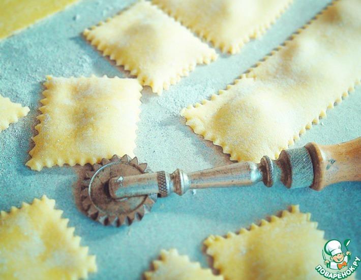 Рецепт: Тесто для лазаньи, равиоли, тальятелле