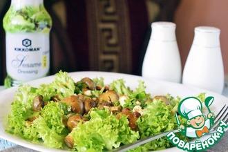 Рецепт: Теплый салат с грибами