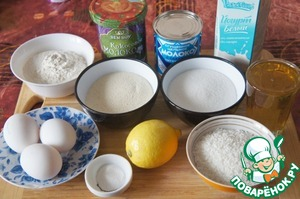 To prepare the products. For this we need 1 Cup volume of 200 ml, they, and we measured the ingredients for the pie.