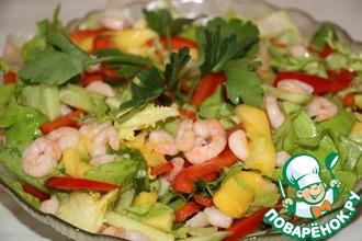 Рецепт: Салат из креветок и манго