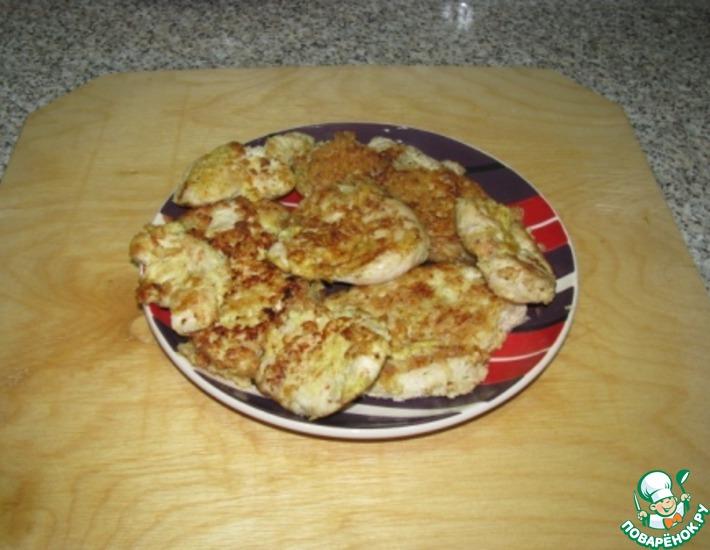 Рецепт: Куриный шницель с орехом Кешью