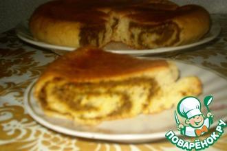 Рецепт: Пирог с печенью в мультиварке