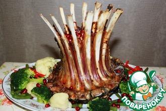 Рецепт: Корона из бараньих ребер