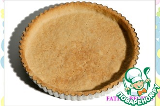 Рецепт: Песочное тесто для тартов и тарталеток