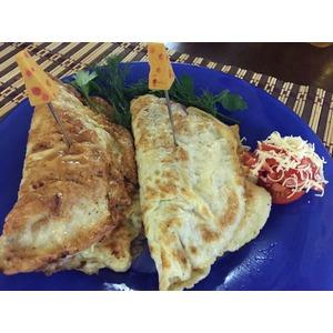 Бризоль с сыром и помидорами
