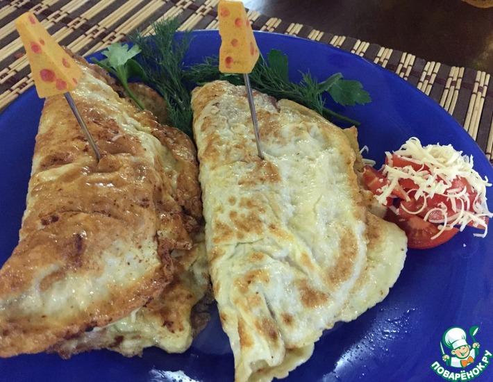 Рецепт: Бризоль с сыром и помидорами