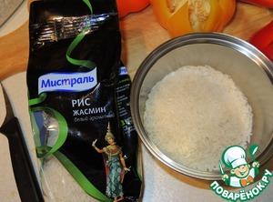 """Рис Жасмин """"Мистраль"""" хорошо промыть и поставить вариться. Остудить отваренный рис."""