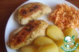 Выкладываем на блюдо и кушаем с гарниром, салатом, со свежими овощами или просто так! )))