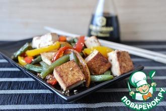 Рецепт: Жареный тофу с овощами