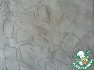 On parchment paper I drew the following figures (spots)giraffe.