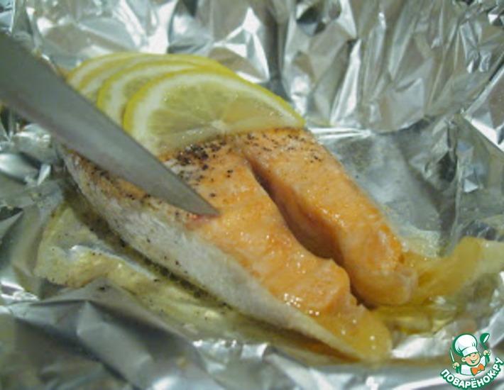 Рецепт: Форель в лимоне