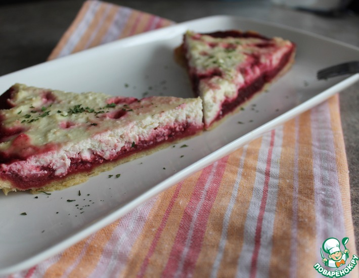 Рецепт: Тарт со свеклой и творогом